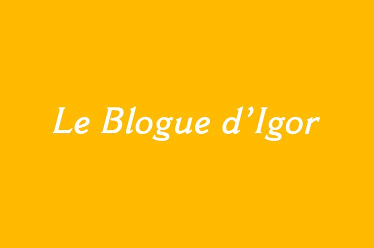 «Jérôme en ses Murs» – Article du Blogue d'Igor